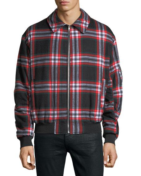 Men's Plaid Blouson Jacket
