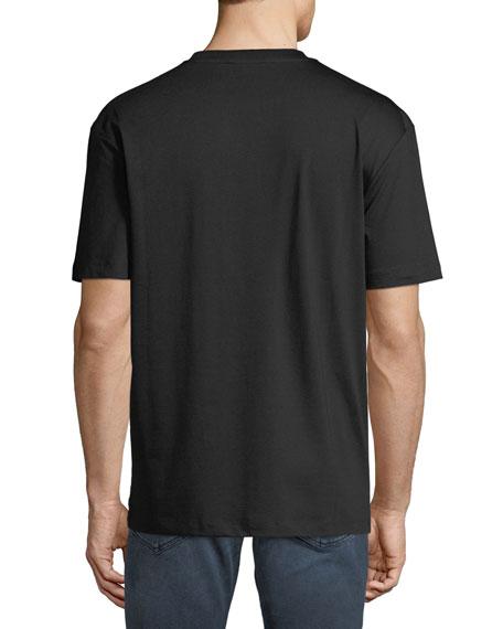 Men's Dropped Shoulder Cartoon Graphic T-Shirt