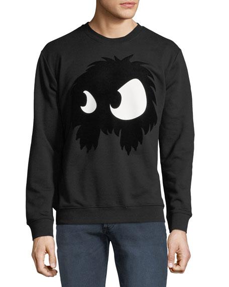 Men's Felt Monster-Graphic Sweatshirt