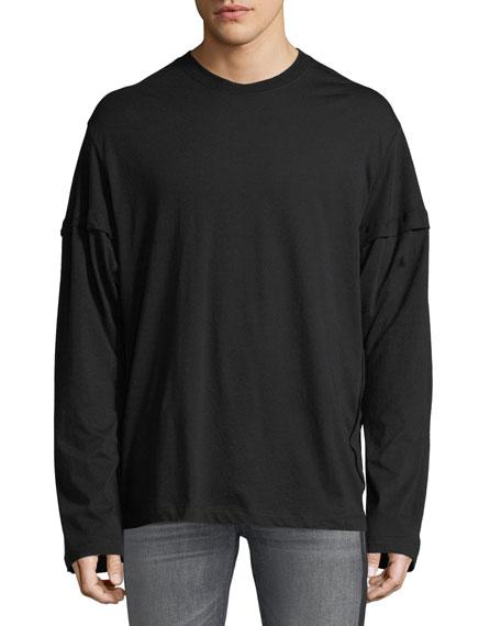 McQ Alexander McQueen Men's Cutup Long-Sleeve T-Shirt
