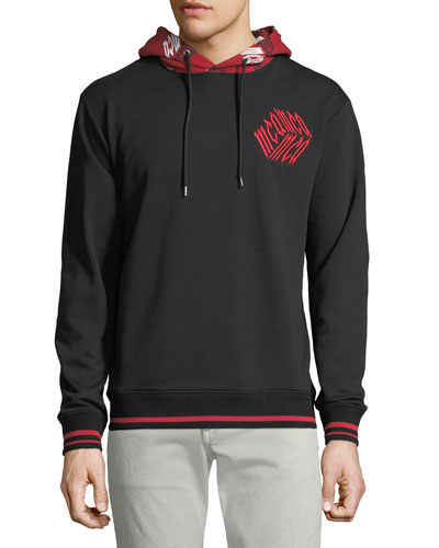 Men's Contrast-Trim Cotton Hoodie