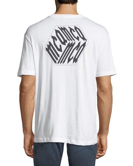 Men's Dropped Shoulder Logo Cube Graphic T-Shirt