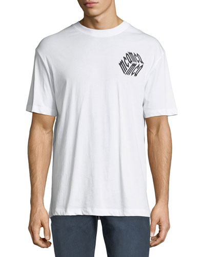 Men's Dropped Shoulder Logo Cube Graphic T-Shirt