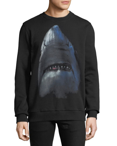 Men's Cuban-Fit Shark Graphic Sweatshirt