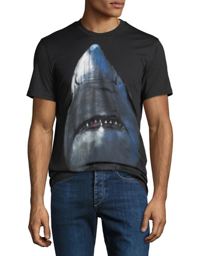 Men's Cuban-Fit Shark Graphic T-Shirt
