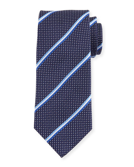 Eton Striped & Dotted Silk Tie