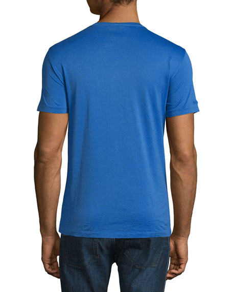 Short-Sleeve Washed T-Shirt, Royal