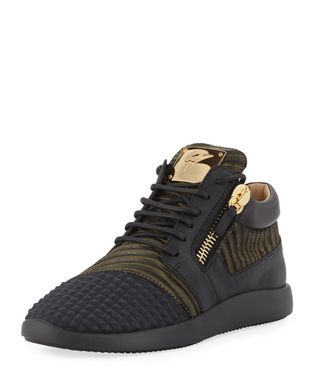 Giuseppe Zanotti Men's Pyramid Double-Zip Running Sneakers