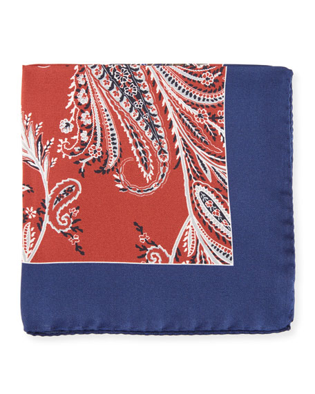 Grass Paisley Pocket Square