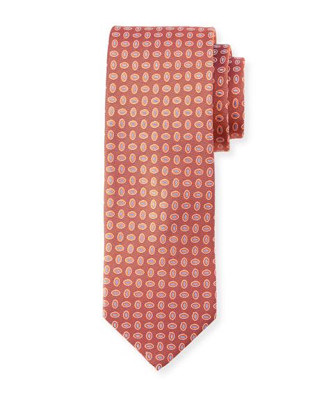 Oval-Print Silk Tie