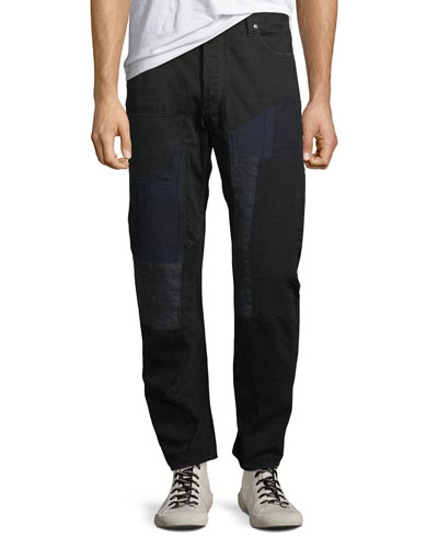 Men's Arc 3D Tapered Patched Denim Jeans