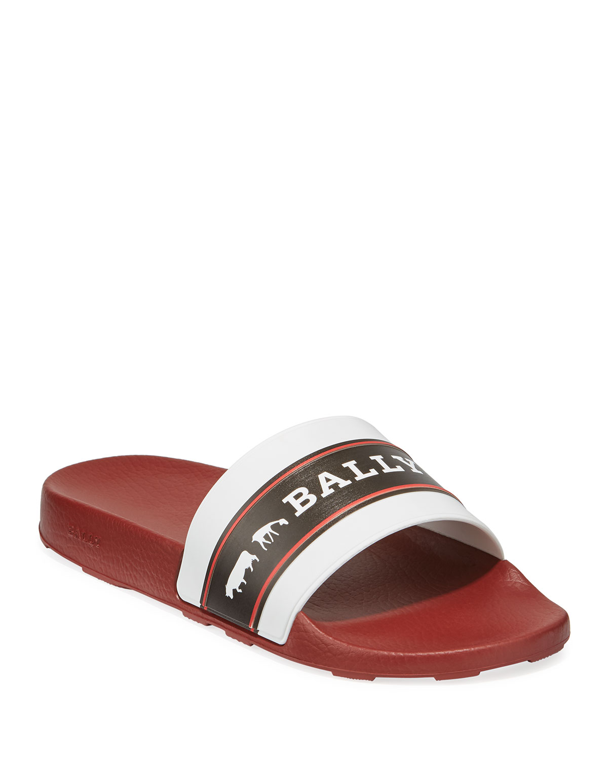 a3af071a2 Bally Men's Ani 8 Rubber Pool Slide Sandals | Neiman Marcus