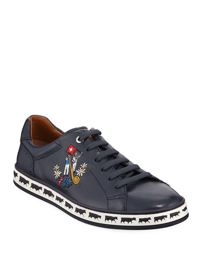 Men's Anistern 16 Leather Low-Top Sneakers