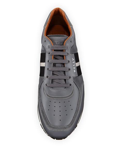 Men's Aston New5 Leather Sneakers w/ Trainspotting Stripe