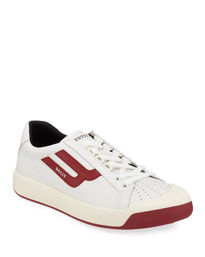 Men's New Competition Retro Low-Top Sneakers, Red/White