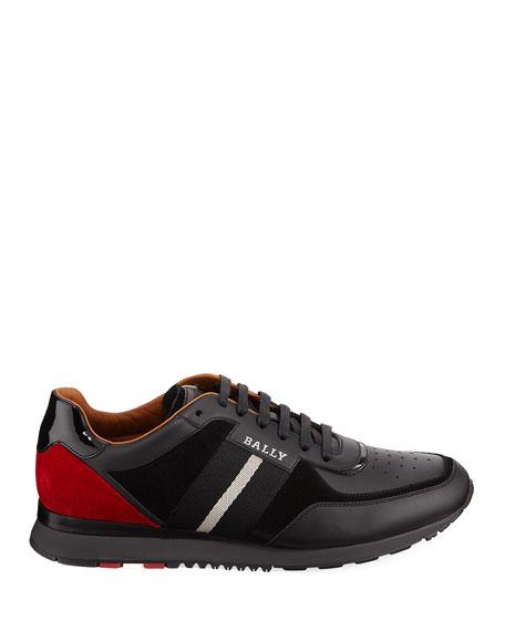 Men's Aston New0 Leather Sneakers w/ Trainspotting Stripe