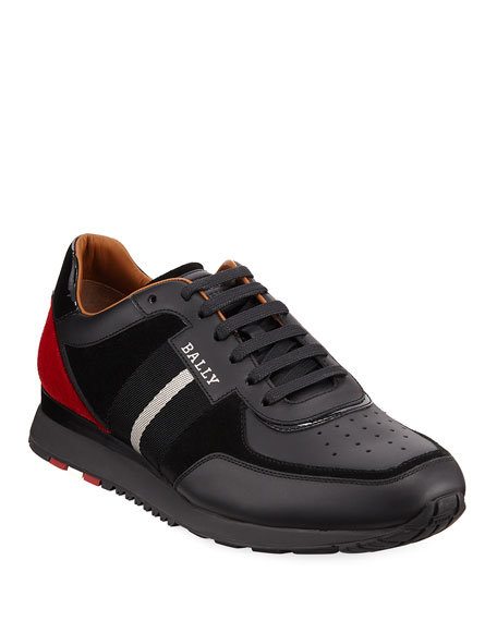 Bally Men's Aston New0 Leather Sneakers w/ Trainspotting