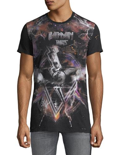 Men's Galaxy Distressed T-Shirt