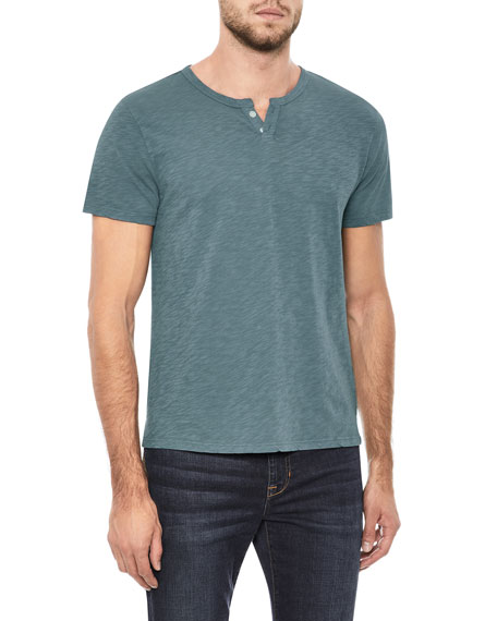 Men's Wintz Short-Sleeve Henley Shirt
