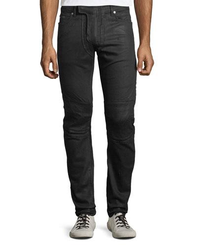 Men's Waxed Stretch-Denim Jeans