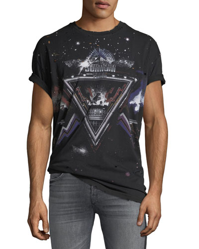 Men's Distressed Galaxy T-Shirt