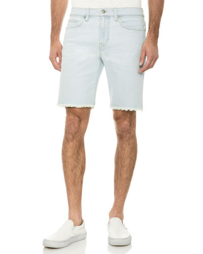 Men's Unfinished-Hem Bermuda Shorts