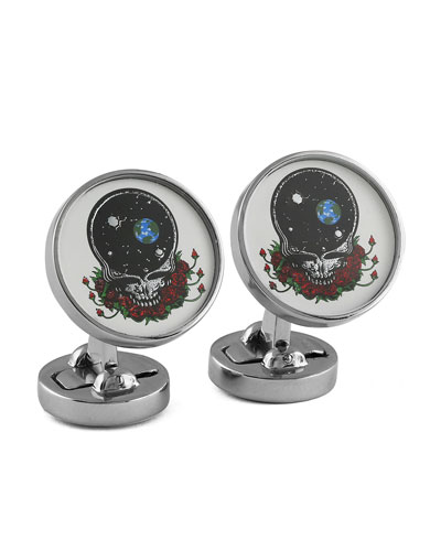 Space Your Face Cuff Links