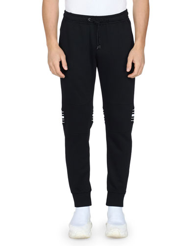 Men's Back-Stripe Jersey Jogger Pants