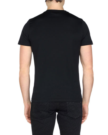 Men's Retro Rainbow FF Diagonal Graphic T-Shirt
