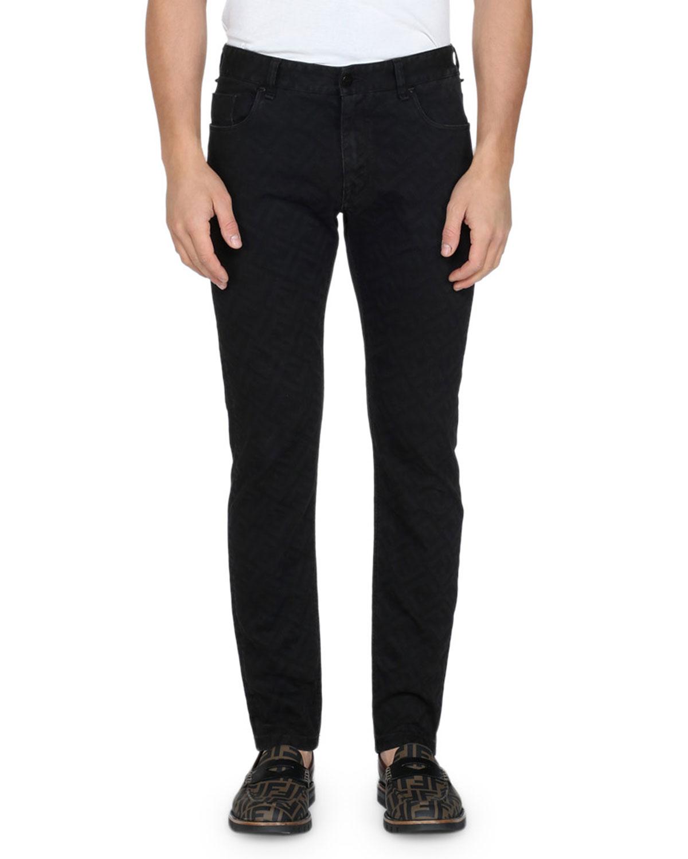 recta Ff Allover de Jeans pierna Print Fendimen's TvSqZw1S