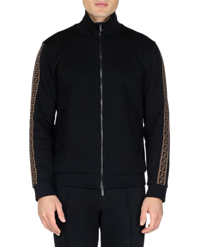 Men's FF Tape Stripe Zip-Front Track Jacket