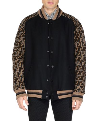 Men's FF Logo Varsity Jacket