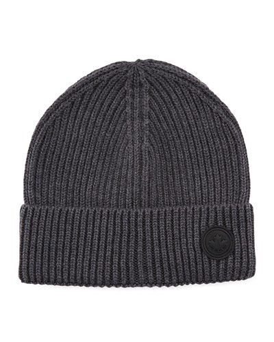 Men's Knit Wool Beanie Hat