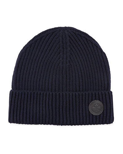 Men's Wool Knit Beanie Hat