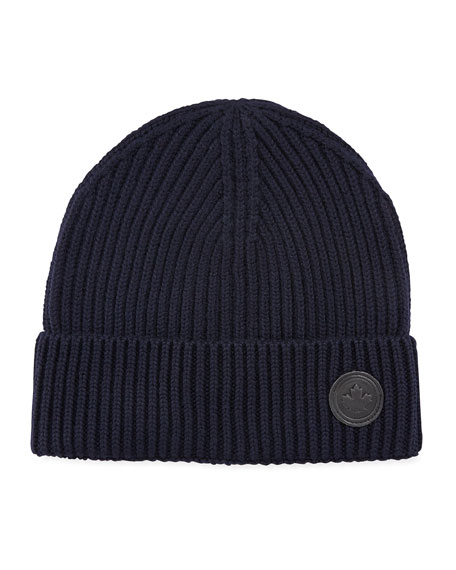 Men's Wool Knit Beanie Hat