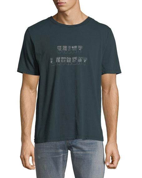Saint Laurent Men's Volume Classique Logo Graphic T-Shirt
