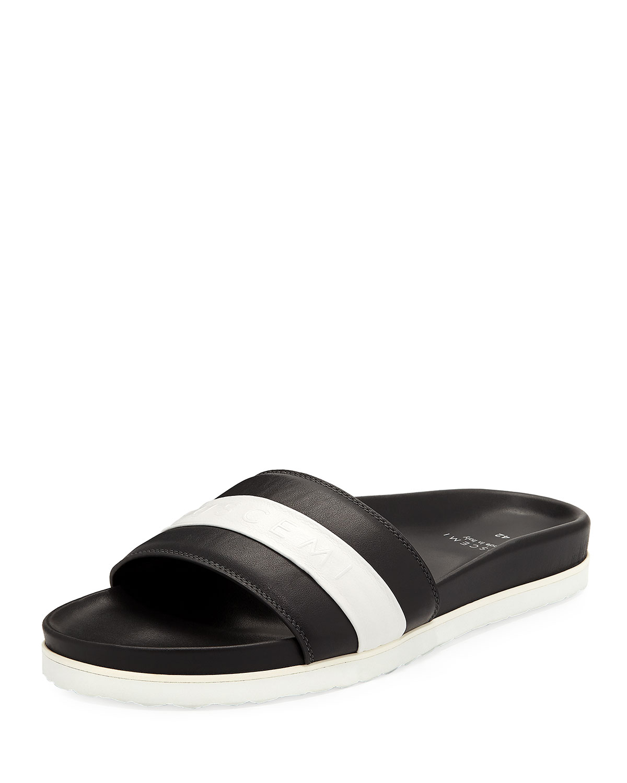 7b85ea68f8b6 Buscemi Men s Logo Sport Slide Sandals