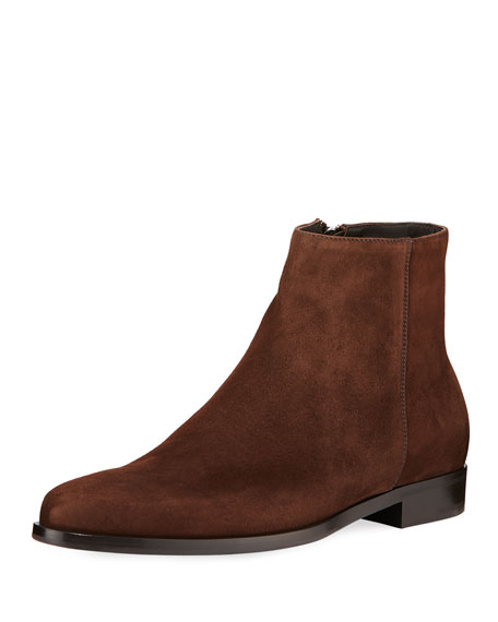 Prada Men's Suede Ankle Boots
