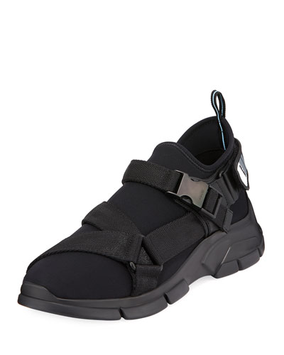Men's Neoprene Buckle Trainer Sneakers