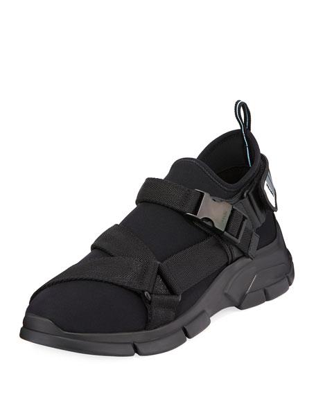 Men's Neoprene Buckle Trainer Sneakers