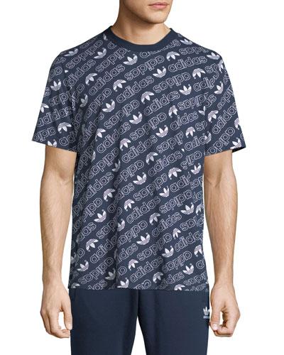 Men's Diagonal Logo T-Shirt, Navy