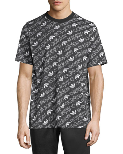 Men's Diagonal Logo T-Shirt, Black