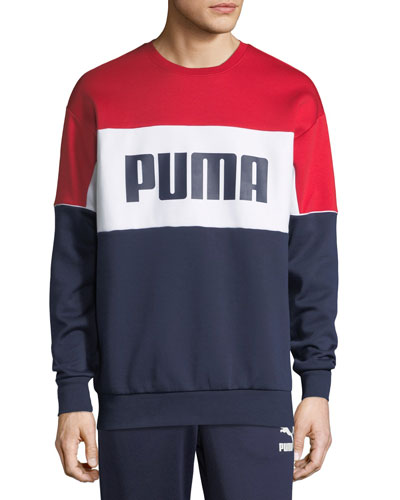 Men's Retro Crewneck Logo Graphic Sweatshirt