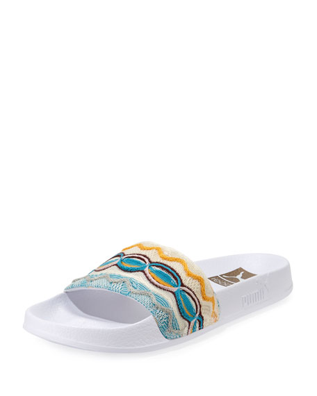 Men's x Coogi Leadcat Leather Slide Sandals