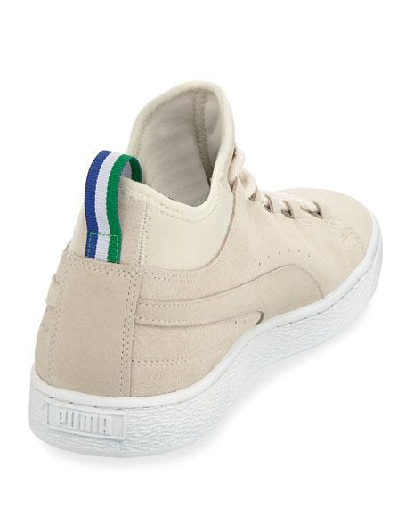 Men's x Big Sean Suede Mid-Top Sneakers, White