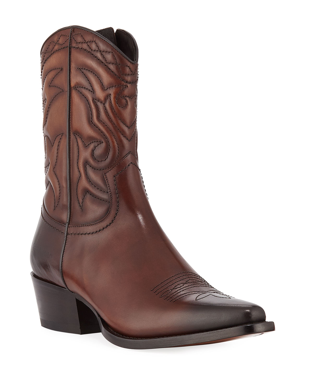 Dsquared2 Men's Men's Dsquared2 Leather Western Cowboy Boots 3f06ca