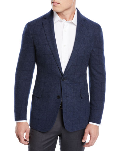 Men's Plaid Wool Sport Coat