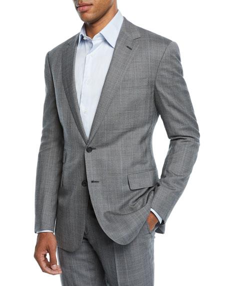 Ralph Lauren Men's Two-Piece Overcheck Suit