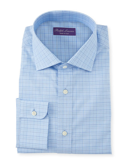 Ralph Lauren Men's Aston Windowpane Dress Shirt
