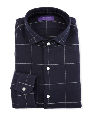 686481b449c Ralph Lauren Men s Windowpane Dress Shirt